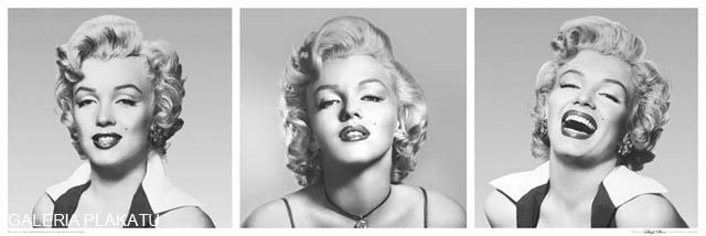 Marilyn Monroe triptych - plakat
