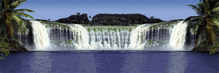 Ogromny Wodospad - plakat