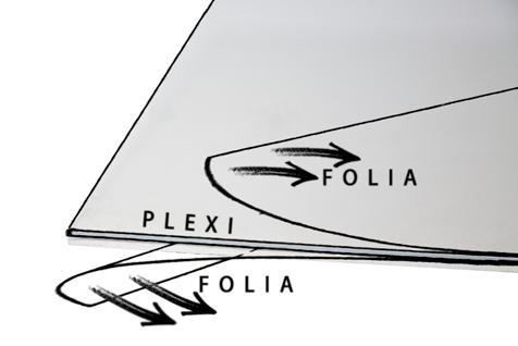 folia zabezpieczająca pleksę ramy