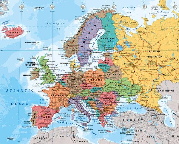Polityczna Mapa Europy Plakat Galeria Plakatu