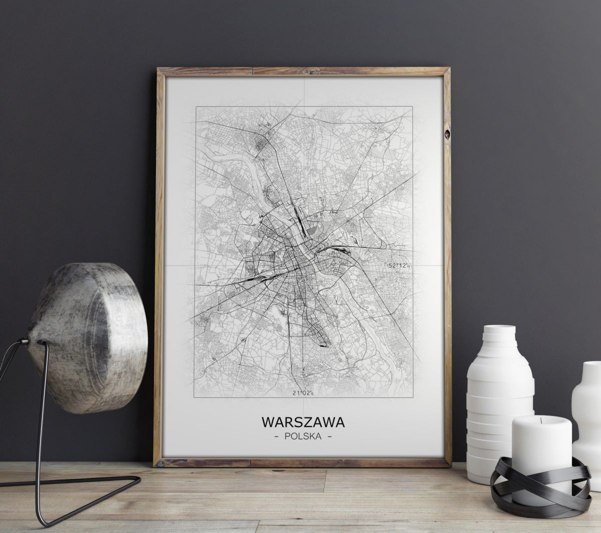 Krakow Czarno Biala Mapa Galeria Plakatu