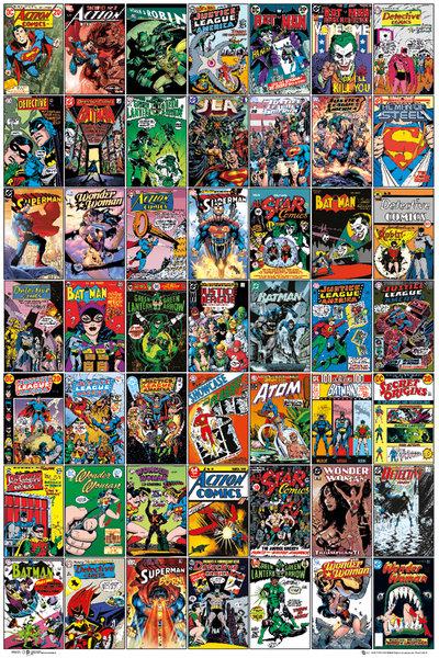 Dc Comics Okładki Komiksów Retro Plakat